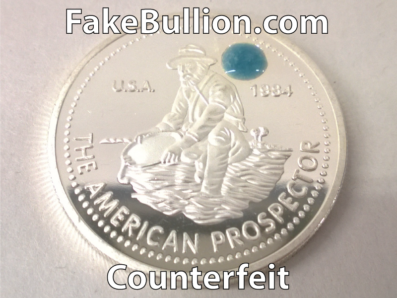silver testing solution turns other colors on low purity or fake silver